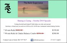Reiki Specials - Sharing is CaringOctober 2019 Northcliff Reiki _small