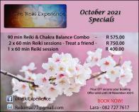 October Summer Specials Northcliff Reiki _small